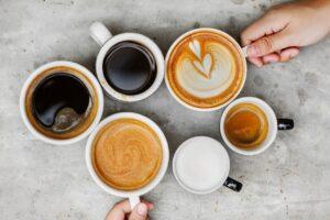 Forskellige typer kaffe