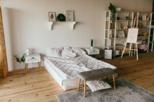 Hyggeligt moderne soveværelse